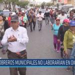 Chiclayo: Obreros municipales no laborarían en diciembre