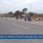 Chiclayo: Choque de miniván con motocarguera deja cinco fallecidos