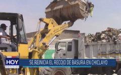 Chiclayo: Se reinicia el recojo de basura en Chiclayo