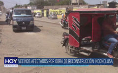 Chiclayo: Vecinos afectados por obra de reconstrucción inconclusa