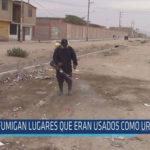 Chiclayo: Fumigan lugares que eran usados como urinarios