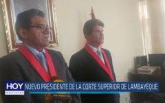 Chiclayo: Nuevo presidente de la Corte Superior de Lambayeque