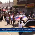 Chiclayo: Realizan marcha contra el uso de pirotécnicos