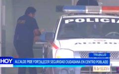 Alcalde pide fortalecer seguridad ciudadana en centro poblado de Huanchaco