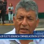 Alcalde electo denuncia confabulación en gestión saliente