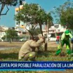 Alerta por posible paralización de la limpieza pública