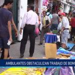 Chiclayo: Ambulantes obstaculizan trabajo de bomberos