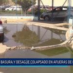 Chiclayo: Basura y desagüe colapsado en afueras de hospital