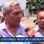 """Elidio Espinoza: """"Me voy con la conciencia tranquila"""""""