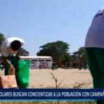 Piura: Escolares buscan concientizar a la población con campaña de limpieza