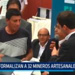 La Libertad: Formalizan a 32 mineros artesanales de Pataz