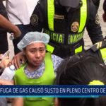 Chiclayo: Fuga de gas causo susto en centro de Chiclayo