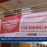 Chiclayo: Inauguran colegio en medio de reclamos de padres