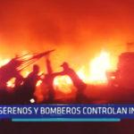 Chimbote: Serenos y bomberos controlan incendio