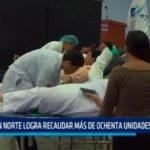 IREN Norte logra recaudar más de ochenta unidades de sangre