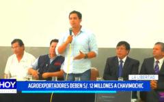 Agroexportadores deben 12 millones a Chavimochic