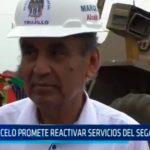 Marcelo promete reactivar servicios del SEGAT en un mes