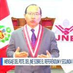 Presidente del JNE instó a la ciudadanía a emitir voto en Referéndum 2018