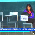 Referéndum: Hubo retrasos en las instalaciones de mesas