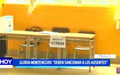 """Gloria Montenegro: """"Deben sancionar a los ausentes"""""""
