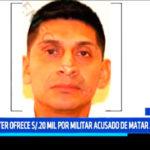 Lima: Mininter ofrece S/.20 mil por militar acusado de asesinato