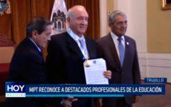 MPT reconoce a destacados profesionales de la educación