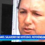 Daniel Salaverry no votó en el referéndum
