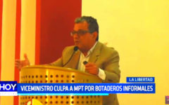 Viceministro culpa a Elidio Espinoza por botaderos informales