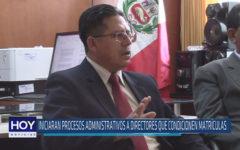Chiclayo: Iniciaran procesos administrativos a directores que condicionen matrículas