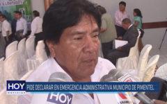 Chiclayo: Pide declarar en emergencia administrativa municipio de Pimentel