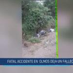 Chiclayo: Fatal accidente en Olmos deja un fallecido