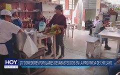 Chiclayo: 217 comedores populares desabastecidos en la Provincia de Chiclayo