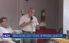 Chiclayo: Obras inconclusas y exceso de personal en Motupe