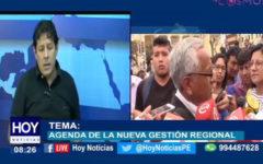 Chiclayo: Agenda de la nueva gestión regional.