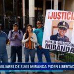 Piura: Familiares de Policía Elvis Miranda exigen su liberación