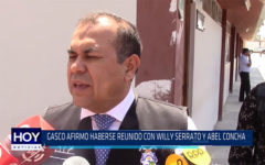 Chiclayo: Gasco afirmo haberse reunido con Willy Serrato y Abel concha