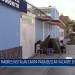 Chiclayo: Madres instalan carpa para buscar vacante en colegio