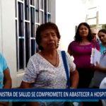 Piura: Ministra de salud se compromete en abastecer hospitales.