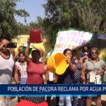 Chiclayo: Población de Pacora reclama por agua potable