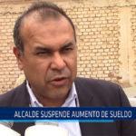 Chiclayo: Alcalde suspende aumento de sueldo
