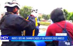 Indeci: Dos mil damnificados y 138 heridos dejó aniego