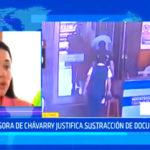 Asesora de Chávarry justifica sustracción de documentos