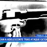 Trujillo: Presuntos sicarios balean a adolescente tras ataque extorsivo