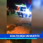 Trujillo: balacera deja un muerto tras un asalto en el distrito La Esperanza