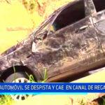 Chiclayo: Automóvil se despista y cae en canal de regadío