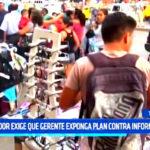 Trujillo: Regidor Bahamonde exige que gerente exponga plan contra informales