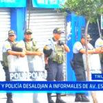 Municipio trujillano y Policía Nacional desalojan a comerciantes informales