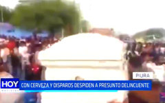 Piura: Entierran sujeto abatido por un agente policial