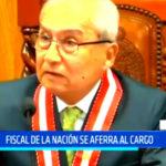Fiscal de la Nación se aferra al cargo