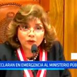 Zoraida Ávalos declara en emergencia el Ministerio Público